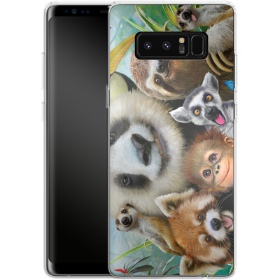 Samsung Galaxy Note 8 Silikon Handyhuelle - Zoo Selfie von Howard Robinson
