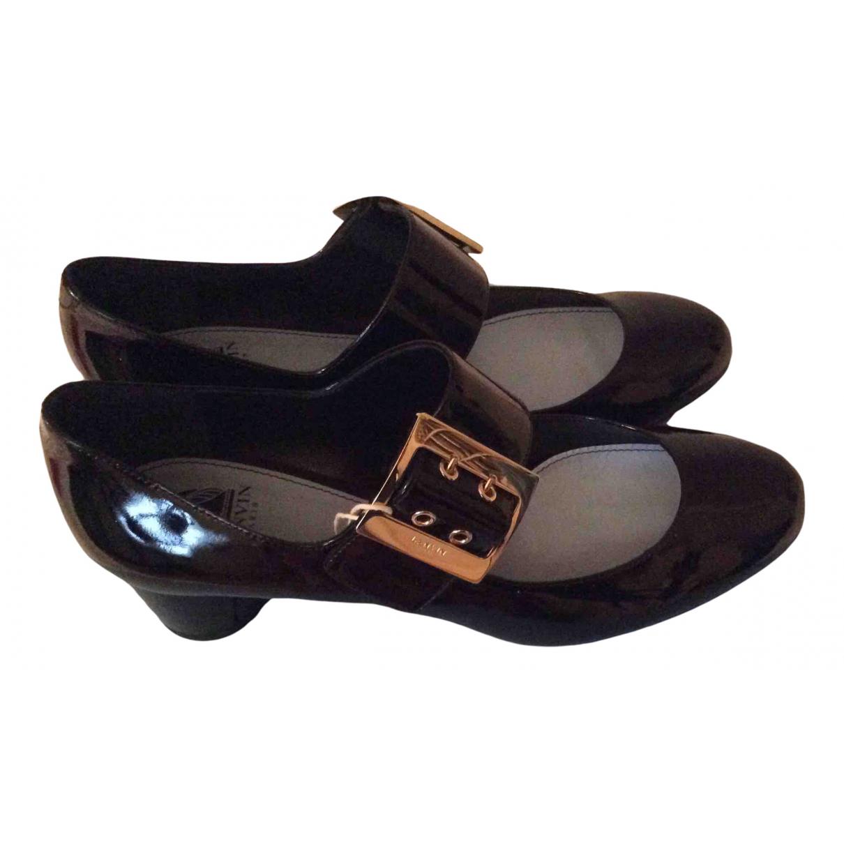 Lanvin N Black Patent leather Heels for Women 38.5 IT