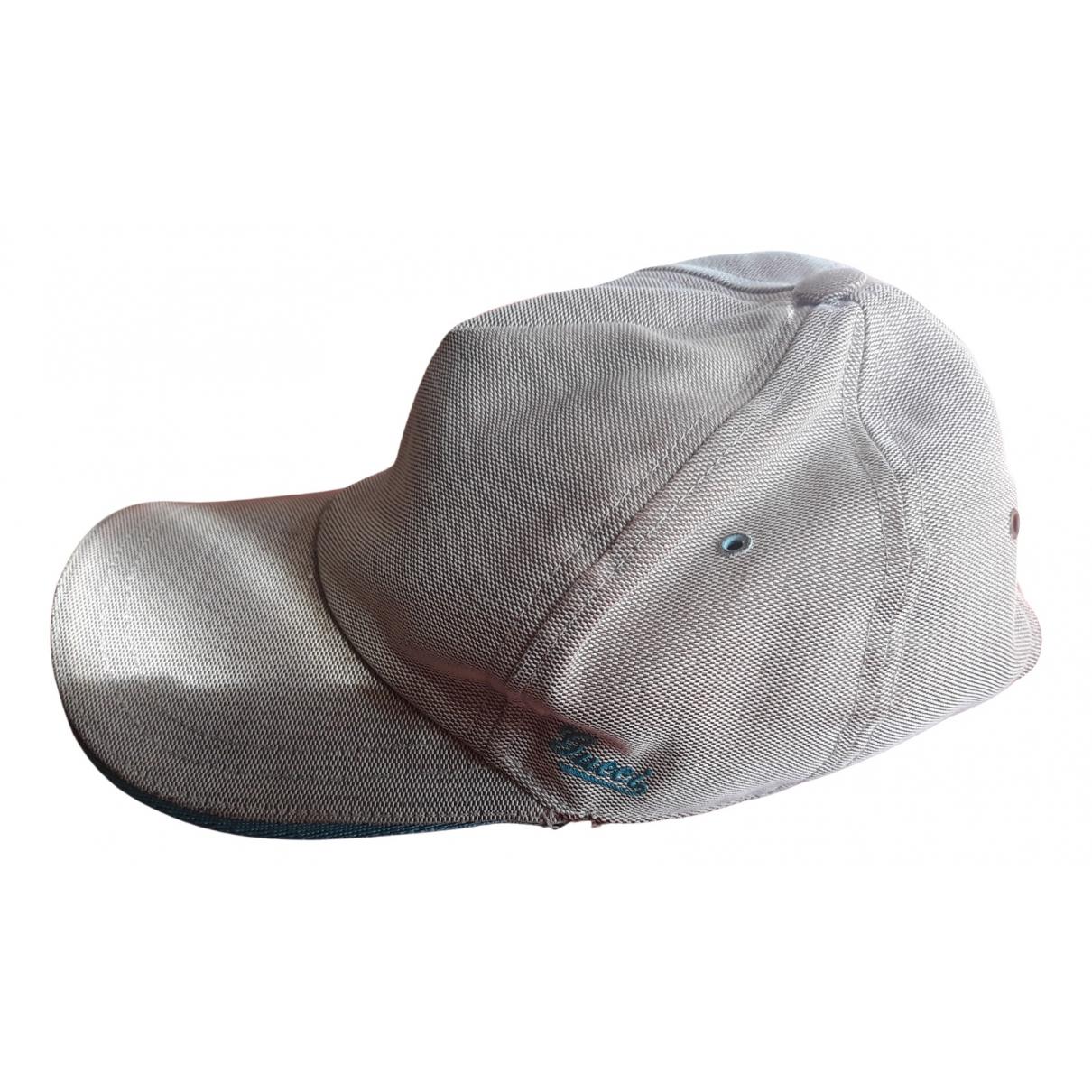 Gucci - Chapeau   pour femme en toile - gris