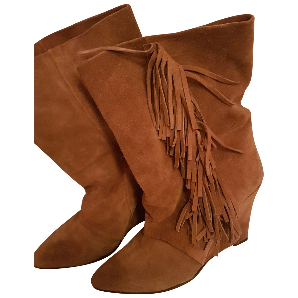 Non Signé / Unsigned \N Brown Suede Ankle boots for Women 40 EU