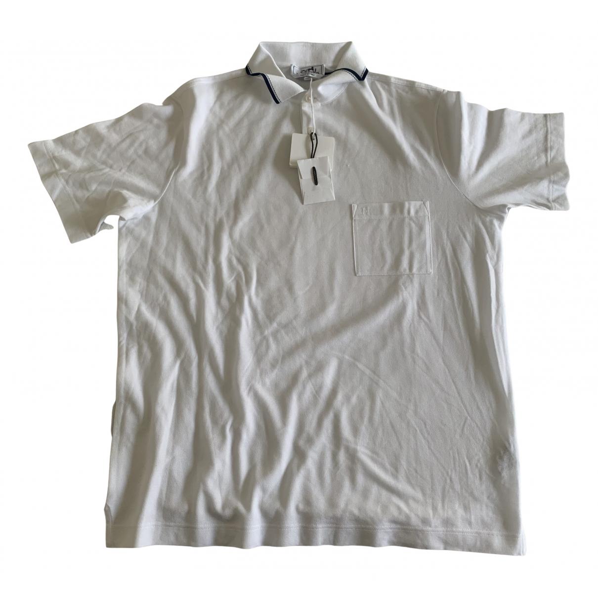 Hermes - Polos   pour homme en coton - blanc