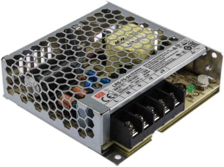 Mean Well , 76.8W Embedded Switch Mode Power Supply SMPS, 24V dc, Enclosed