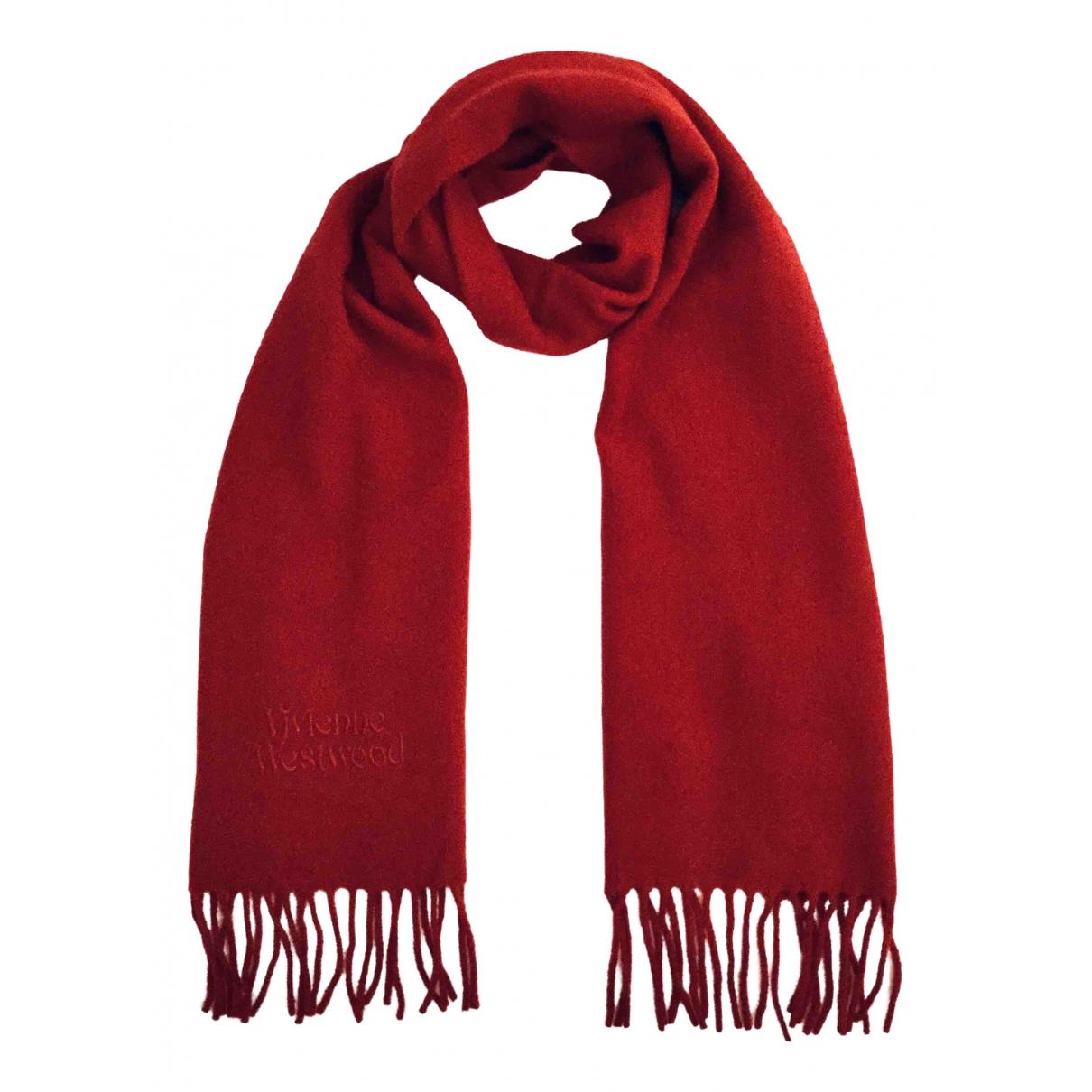 Vivienne Westwood - Foulard   pour femme en laine - rouge