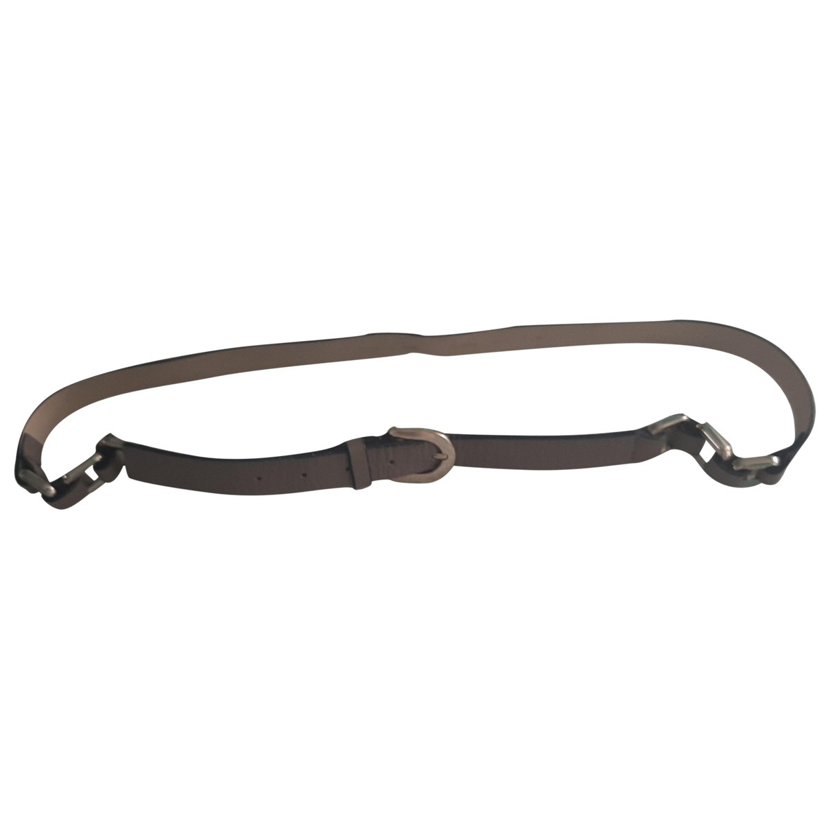 Non Signé / Unsigned \N Beige Leather belt for Women 95 cm