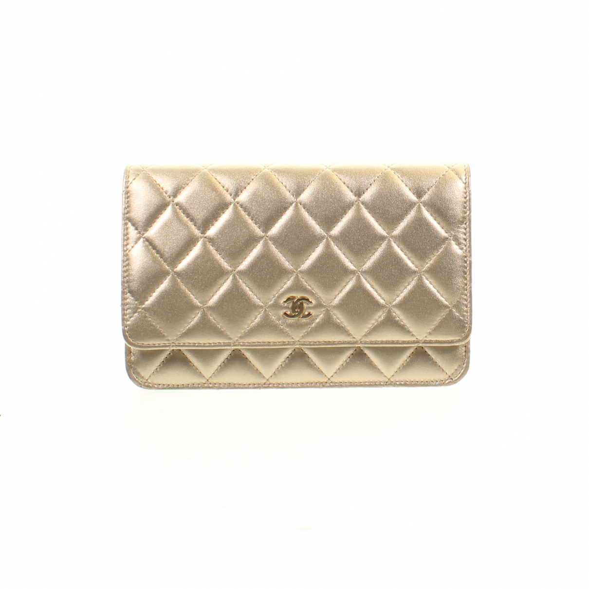 Chanel Wallet on Chain Handtasche in  Gold Leder
