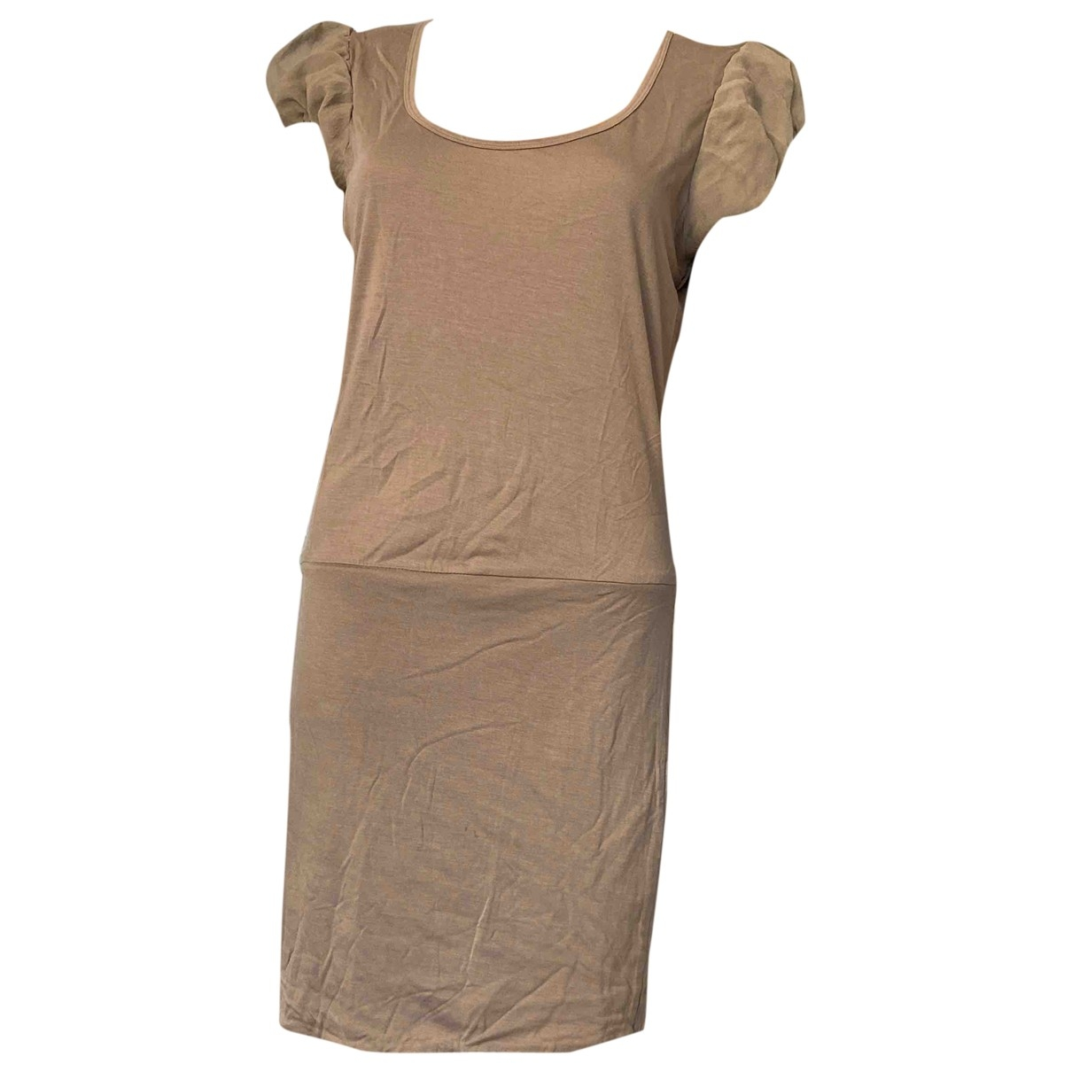 Hoss Intropia \N Kleid in  Khaki Baumwolle