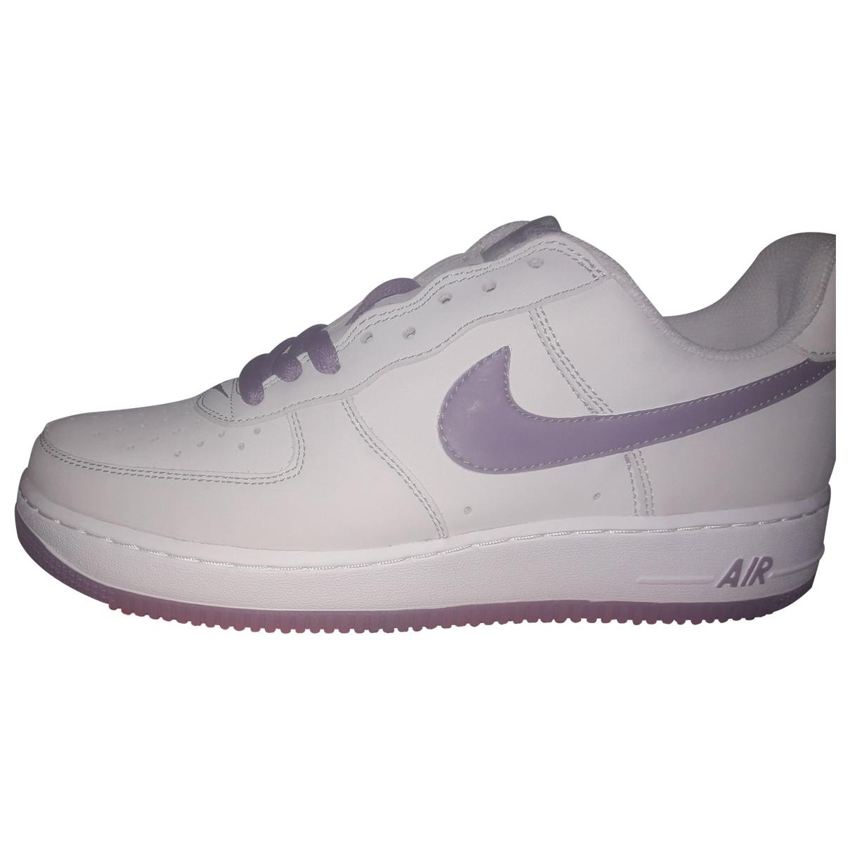 Nike - Baskets Air Force 1 pour homme en suede - violet