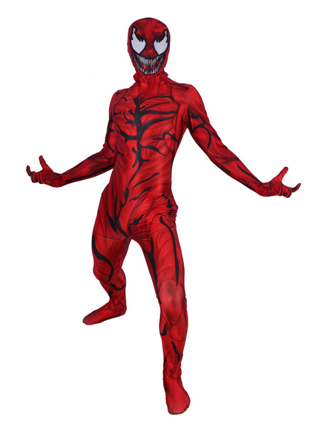 Milanoo Marvel Spider Man Carnage Cosplay Red Jumpsuit Polyester Fiber Marvel Comics Costume