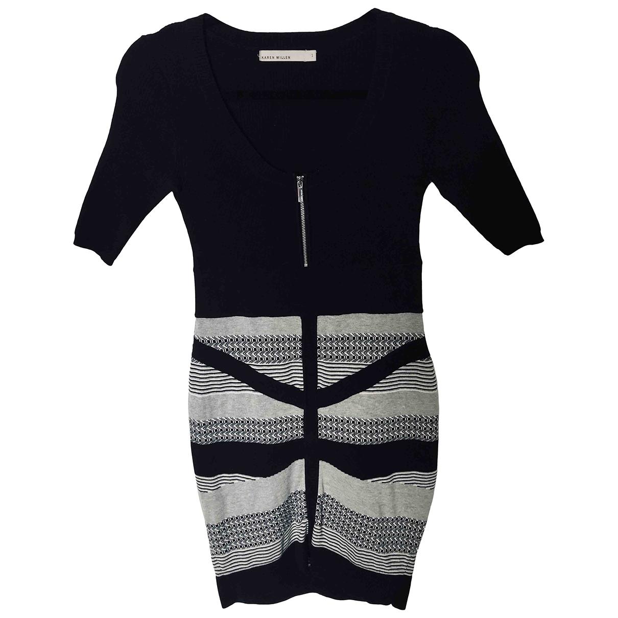 Karen Millen - Robe   pour femme en coton - elasthane - multicolore