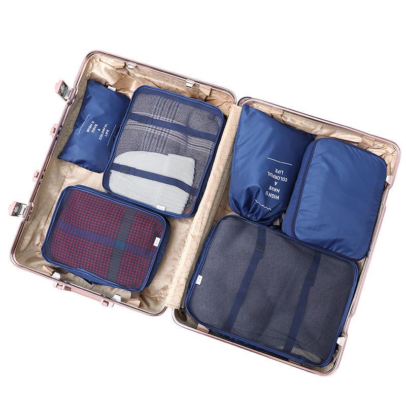 8PCS Folding Waterproof Travel Bag Clothes Pouch Luggage Bag Organizer Travel Bag