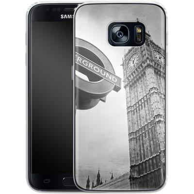 Samsung Galaxy S7 Silikon Handyhuelle - Big Ben & Underground von Ronya Galka