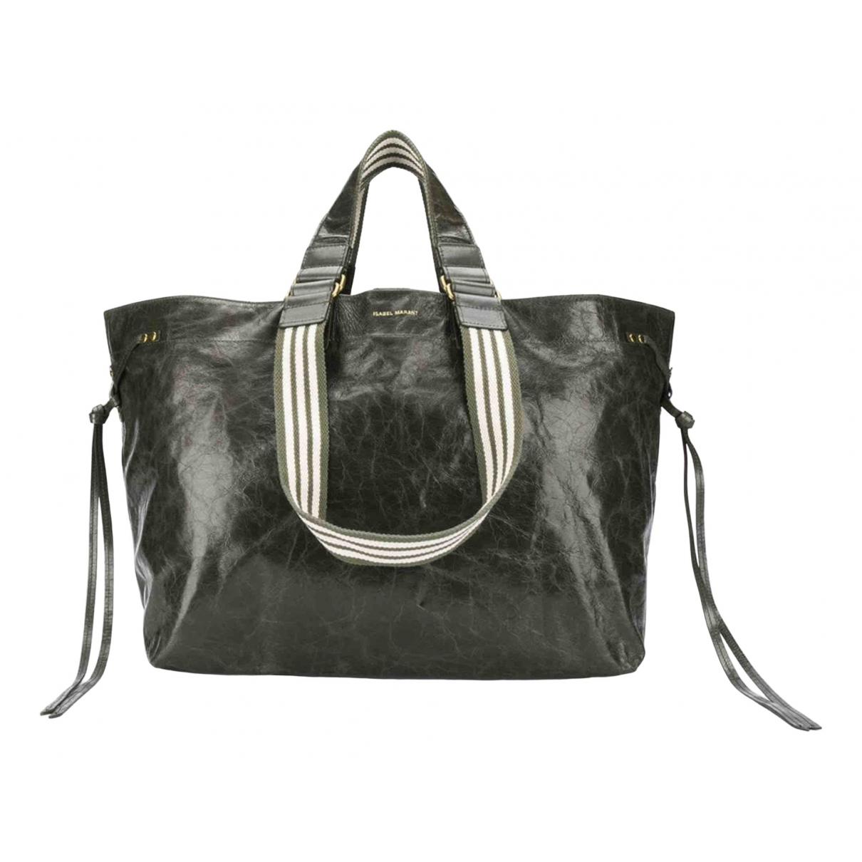 Isabel Marant \N Handtasche in  Khaki Leder