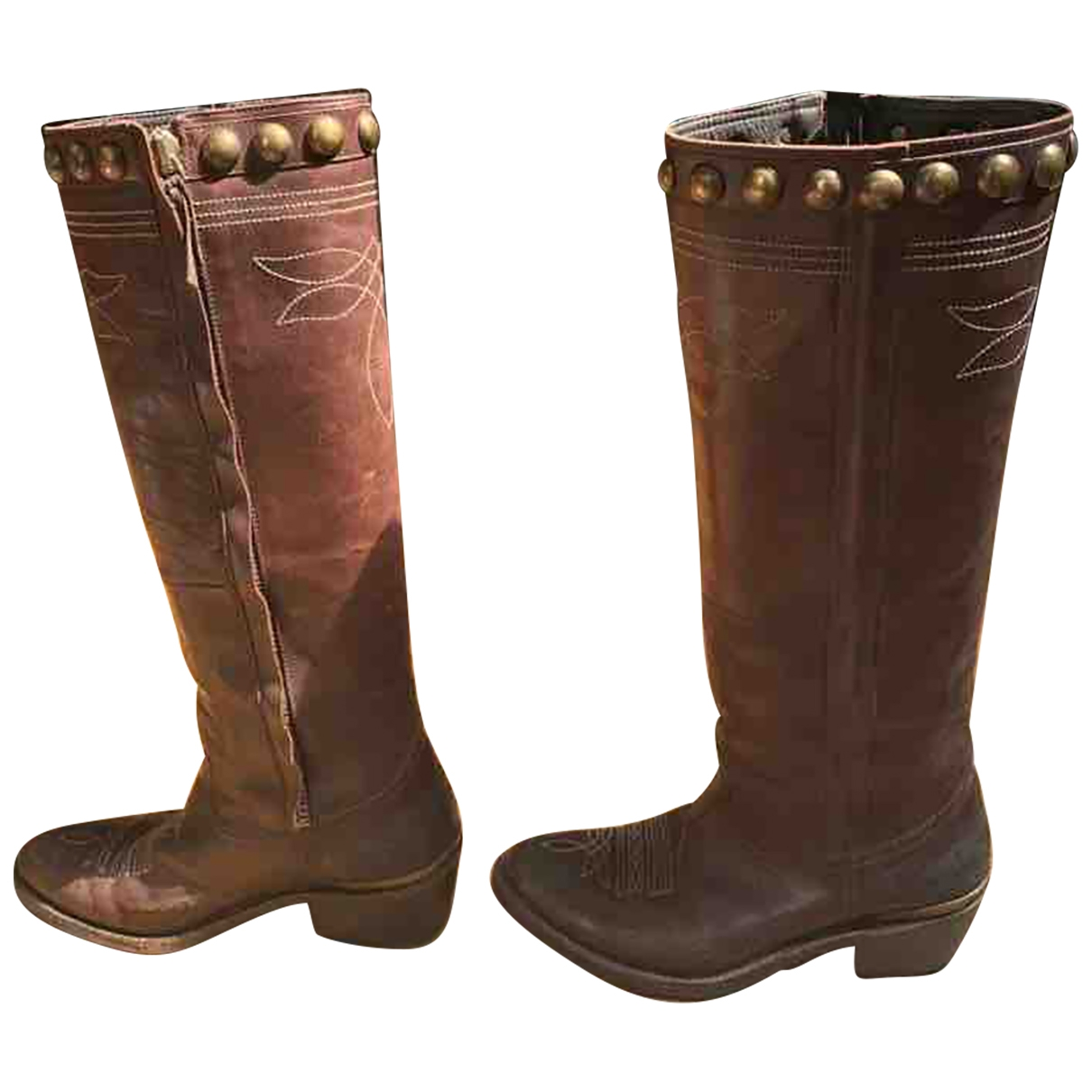 Golden Goose \N Brown Leather Boots for Women 38 EU