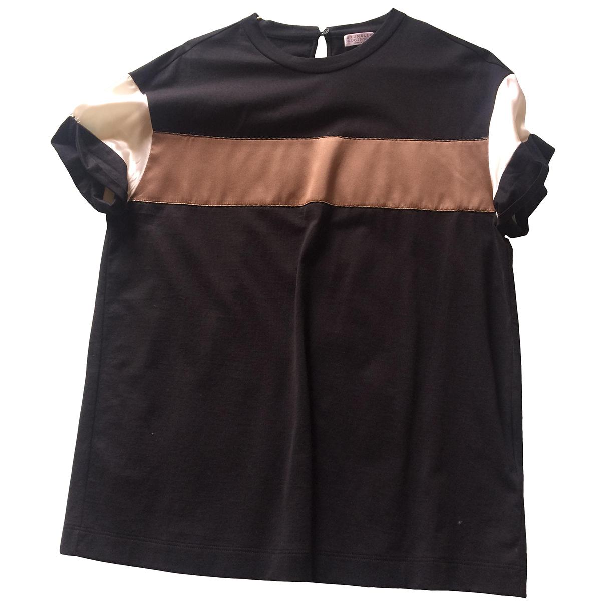 Brunello Cucinelli \N Kleid in  Schwarz Baumwolle