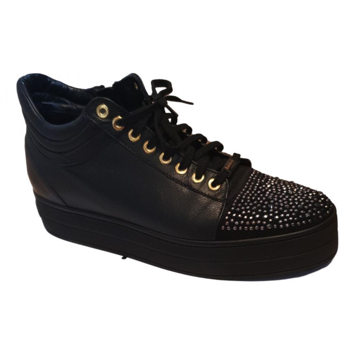 Baldinini N Black Leather Trainers for Women 40 EU