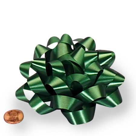 Polyethylene Emerald Green Confetti Bow 4
