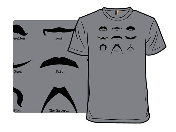 Mickey's Mustache Guide T Shirt