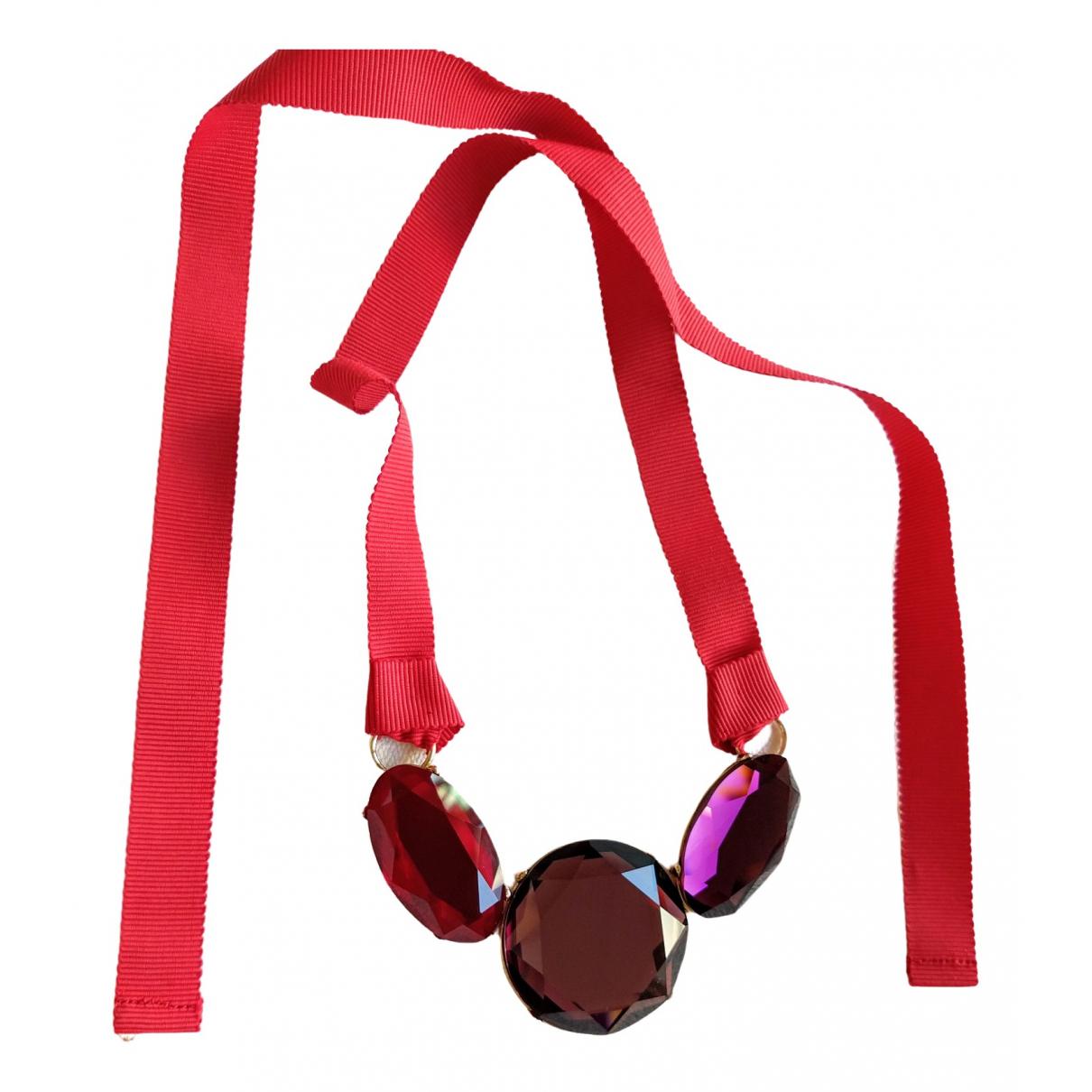 Boden - Collier   pour femme en verre - rouge