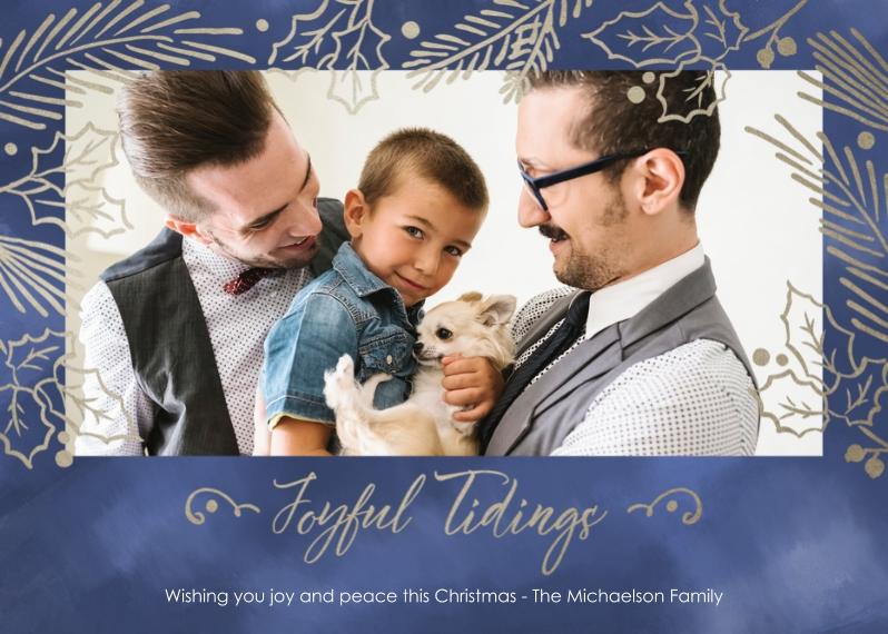 Christmas Photo Cards 5x7 Cards, Premium Cardstock 120lb, Card & Stationery -Joyfull Tidings