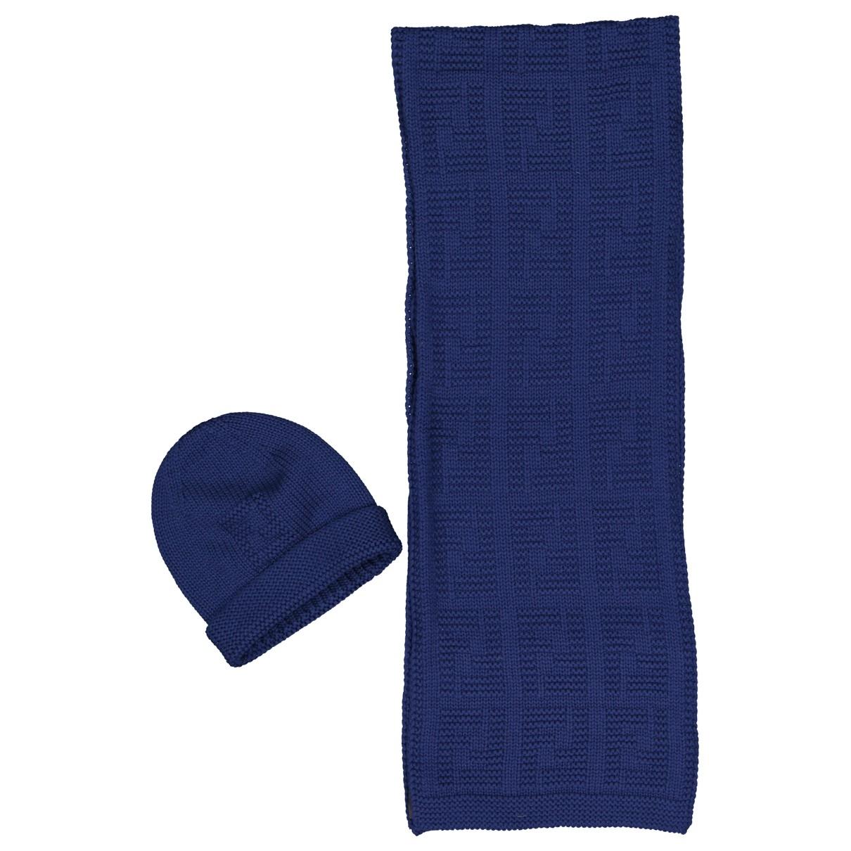 Fendi \N Navy Wool scarf for Women \N