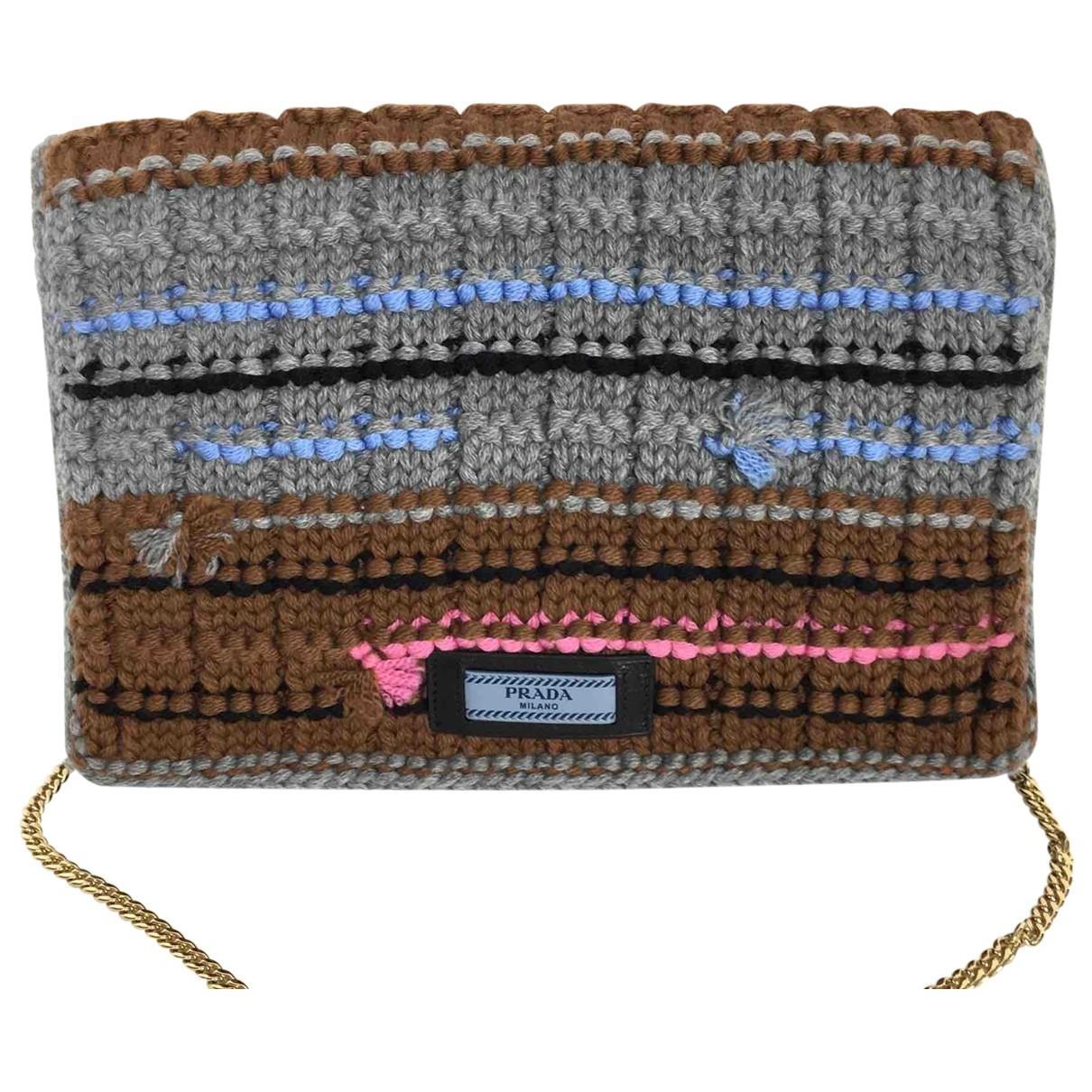 Prada - Sac a main   pour femme en laine - multicolore