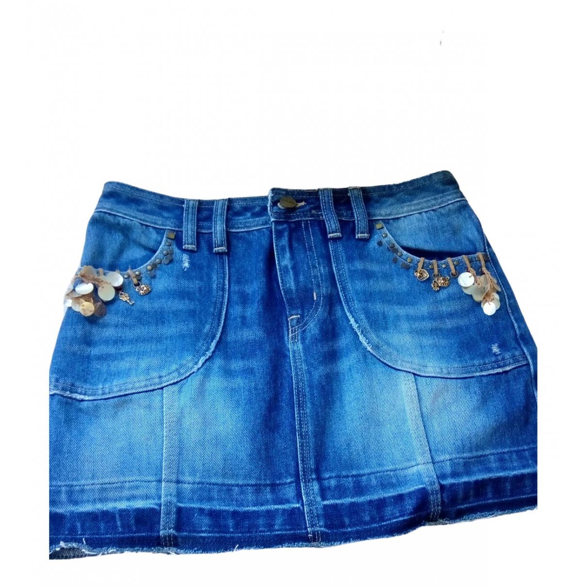 Karen Millen \N Rocke in  Blau Denim - Jeans