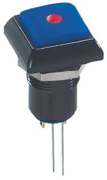 APEM Latching Red LED Push Button Switch, IP67, 13.6 (Dia.)mm, Panel Mount, 48V ac
