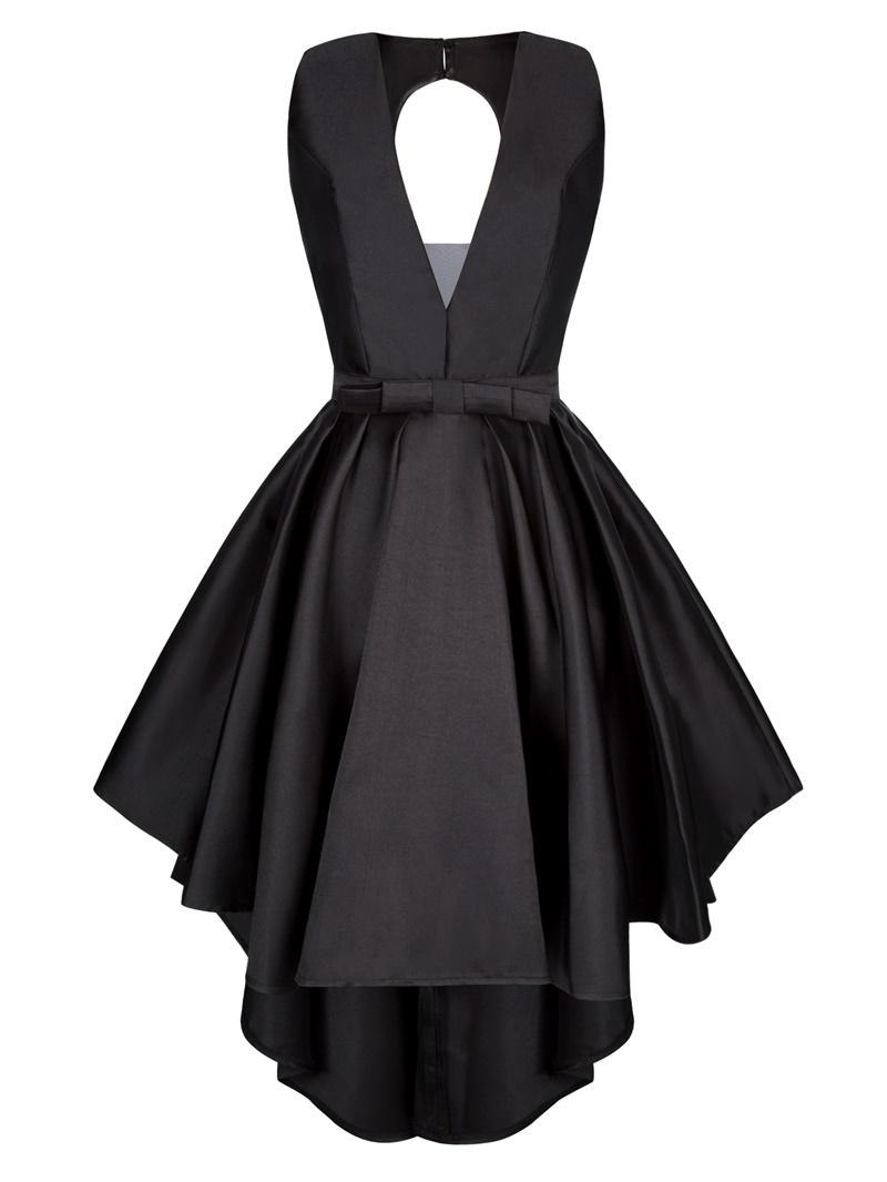 Ericdress V Neck Zipper-Up Bowknot A Line Prom Dress