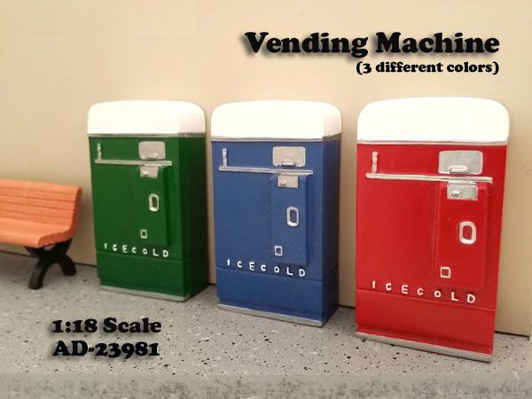 1 Piece Vending Machine Accessory Diorama Green For 118 Scale Models by American Diorama