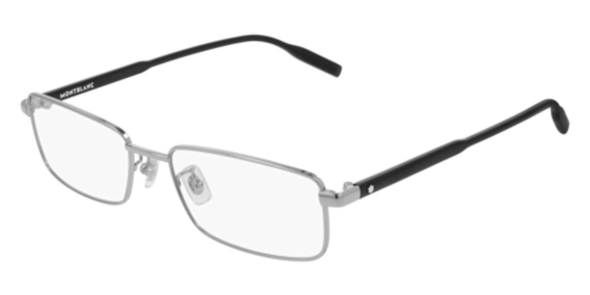 Mont Blanc MB0087O 002 Men's Glasses Silver Size 56 - Free Lenses - HSA/FSA Insurance - Blue Light Block Available