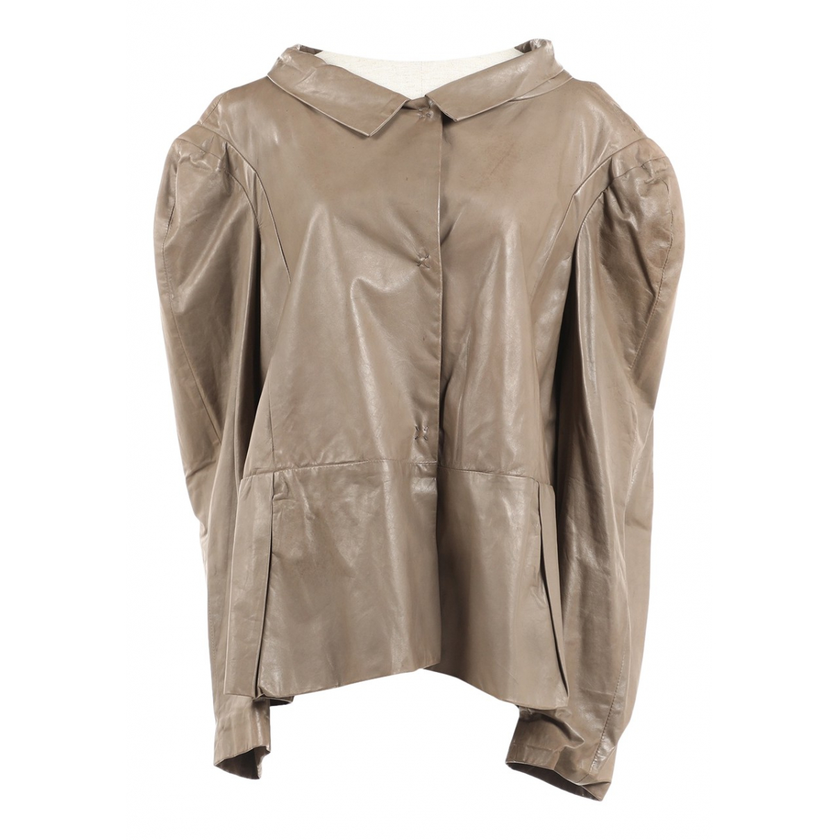 Marni \N Brown Leather jacket for Women 42 IT