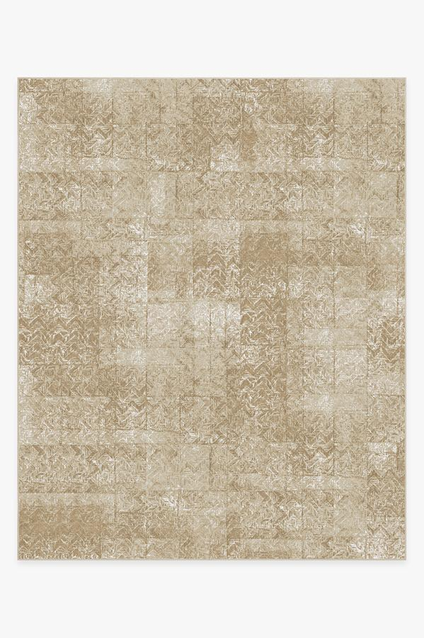 Washable Rug Cover | Herringbone Batik Natural Rug | Stain-Resistant | Ruggable | 8x10