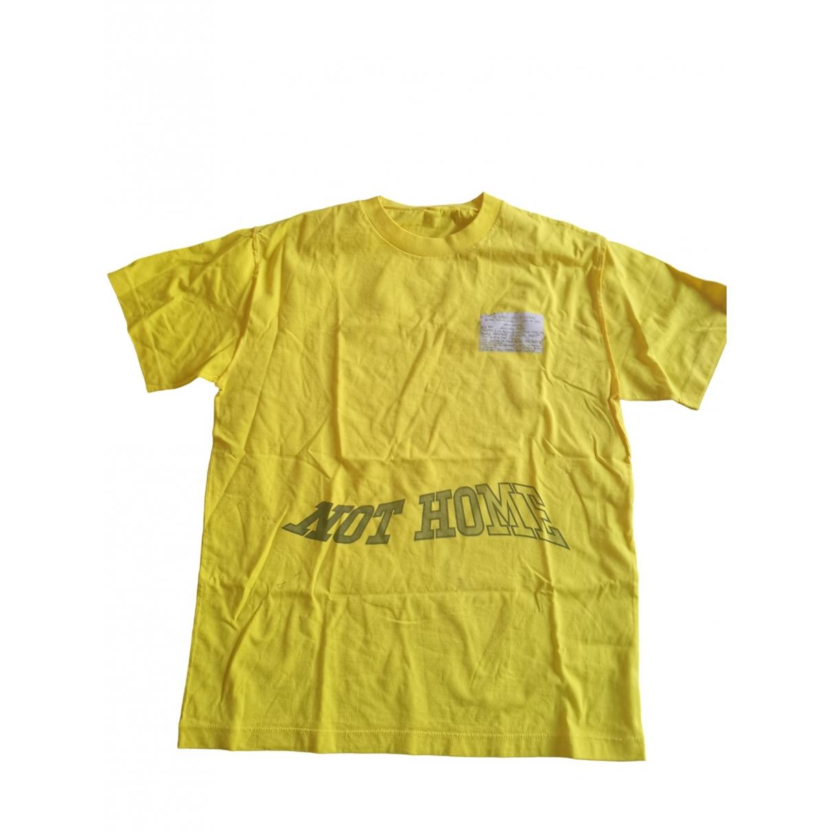 Louis Vuitton \N Yellow Cotton T-shirts for Men M International