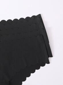5pack Scallop Trim Panty Set
