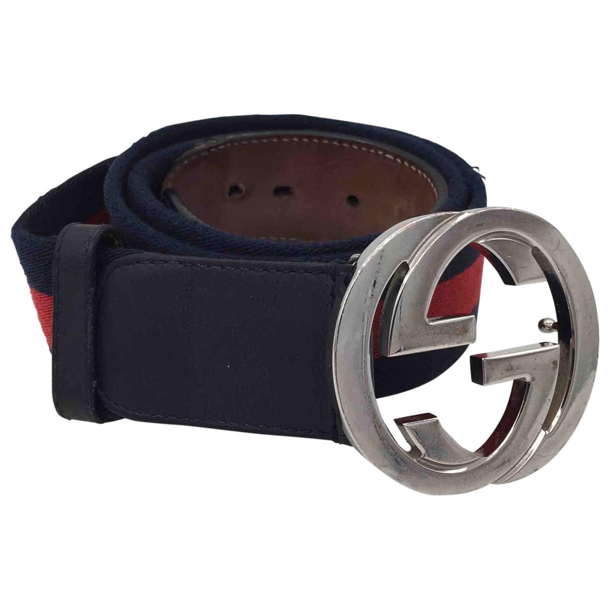 Gucci Interlocking Buckle Cloth belt for Men 85 cm