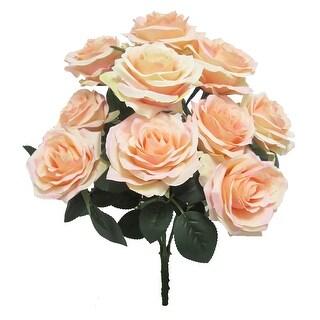 Set of 2 Queen Rose Flower Stems Bush Bouquet 17.75in (17.75