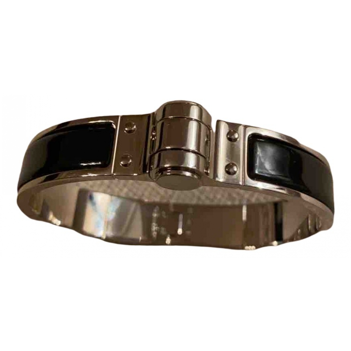 Hermès Bracelet Charnière Black Metal bracelet for Women N