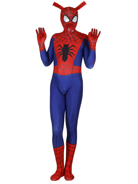 Milanoo Marvel Comics Pig Spider Man Red Jumpsuit Marvel Comics Film Cosplay Costume