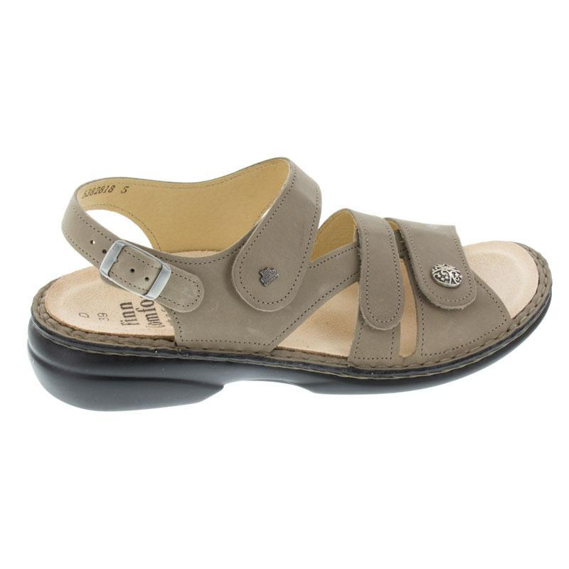 Finn Comfort Gomera Taupe Leather Soft Footbed 43
