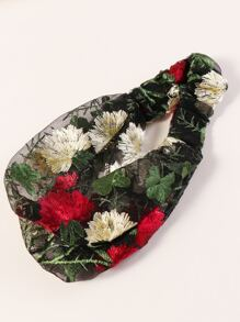 Floral Embroidered Headband