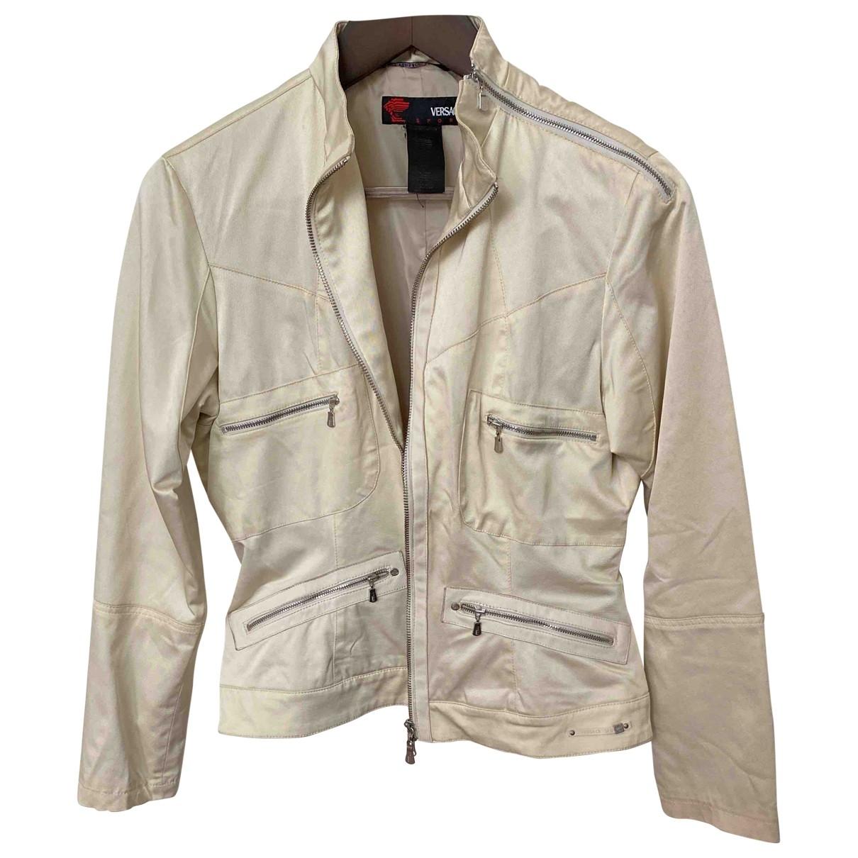 Versace Jeans \N Beige Cotton jacket for Women 46 IT