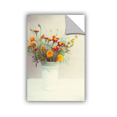 Brushtone Flowers Classical Vase Removable Wall Decal, One Size , White