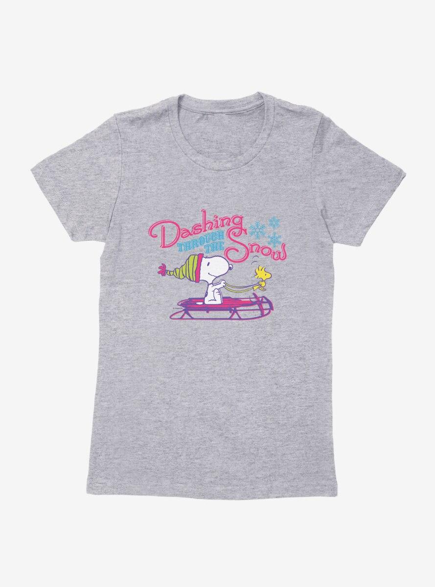 Peanuts Retro Pop Snoopy Woodstock Dashing Womens T-Shirt