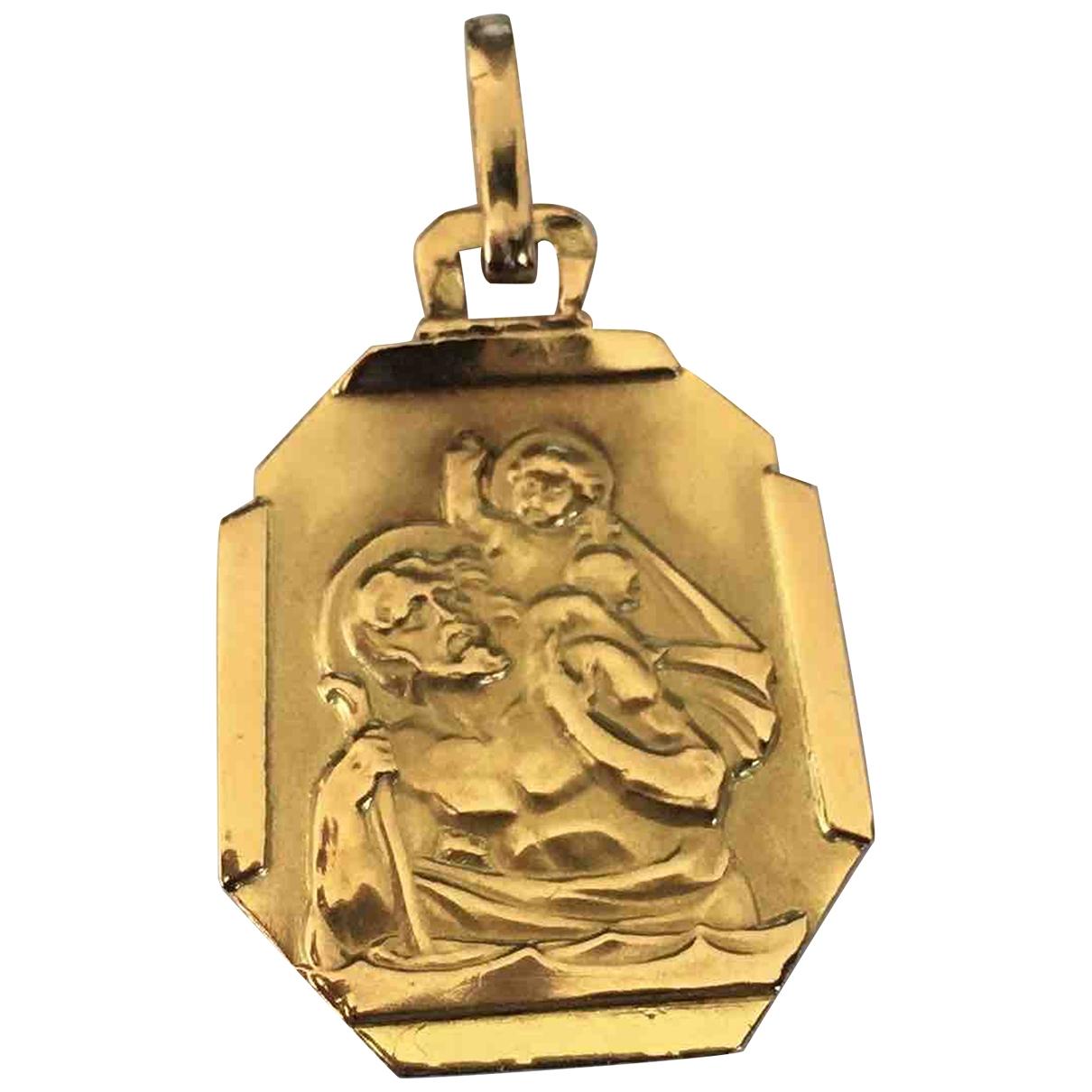 Colgante Motifs Religieux de Oro amarillo Non Signe / Unsigned