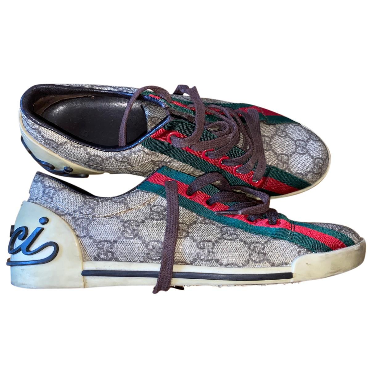 Gucci - Baskets Ace pour femme en cuir - marron