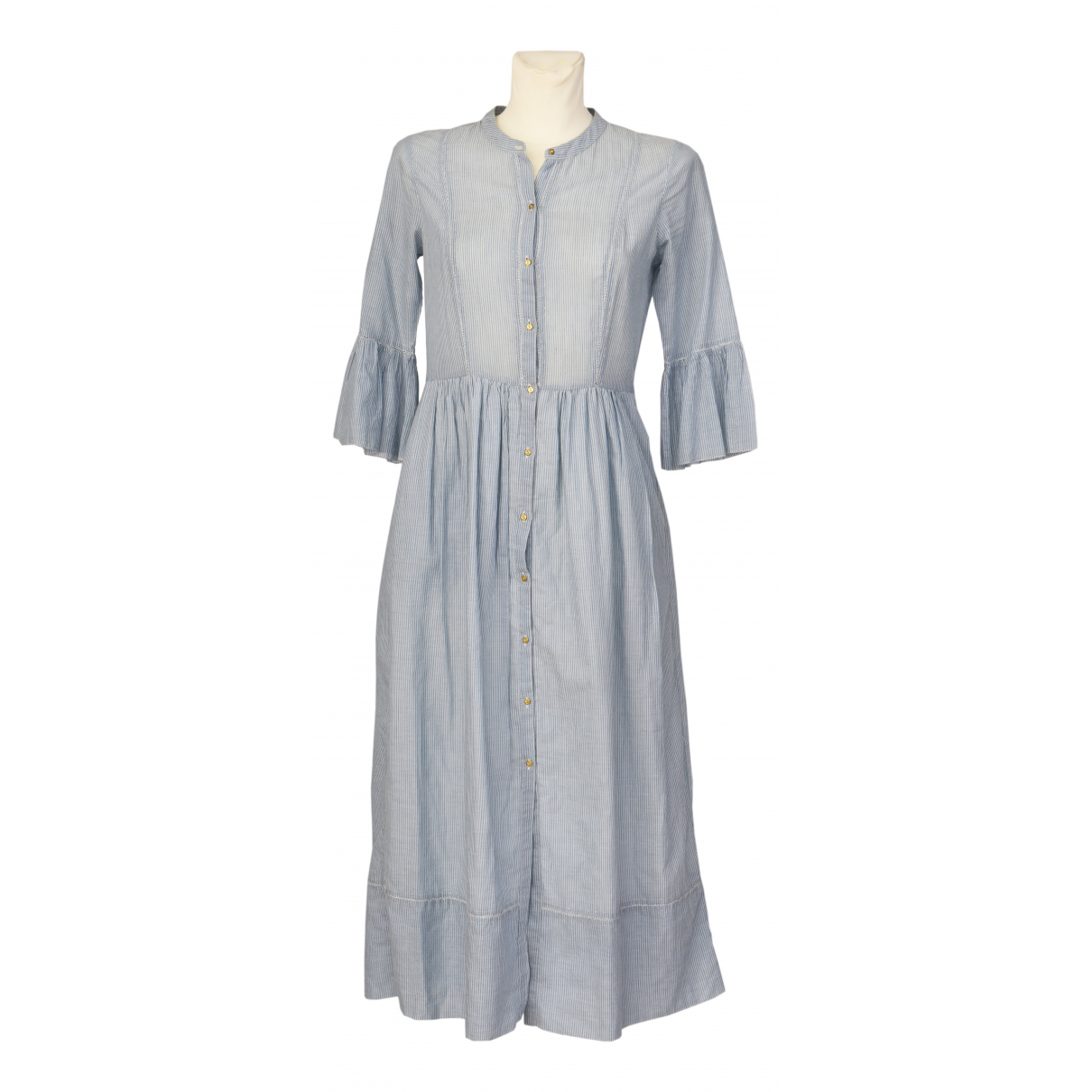 Ulla Johnson - Robe   pour femme en coton - bleu