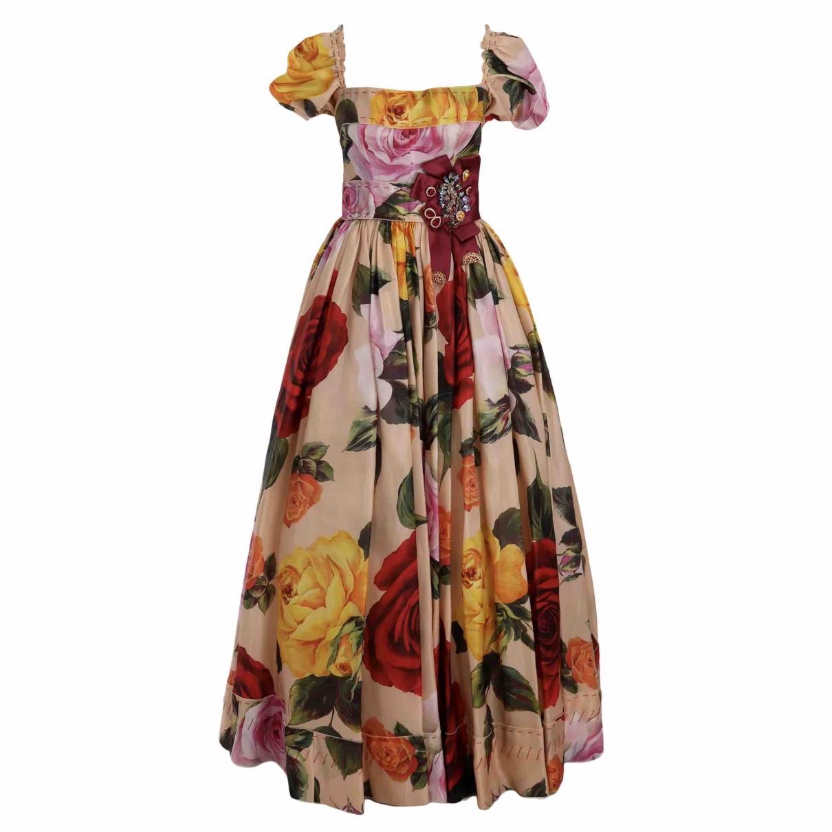 Dolce & Gabbana - Robe   pour femme en soie - multicolore