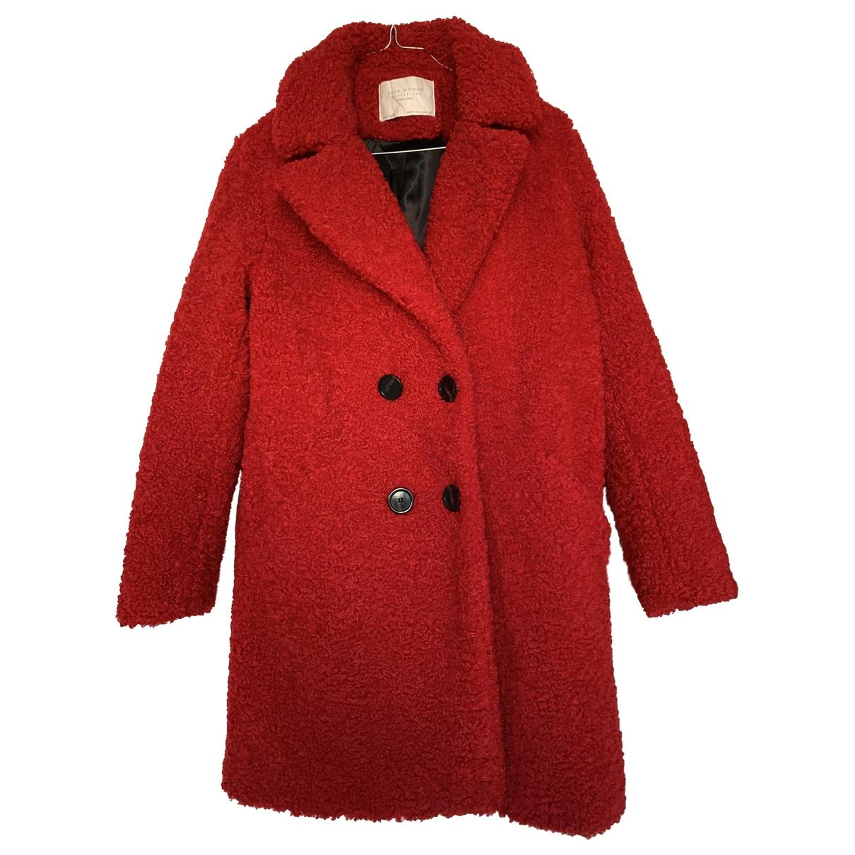 Zara \N Red Faux fur coat for Women XS International