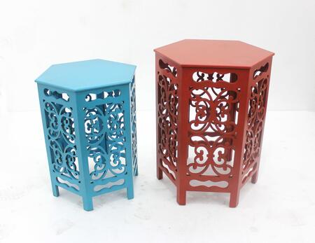 274395 Multi-Color Traditional Style Tea Table