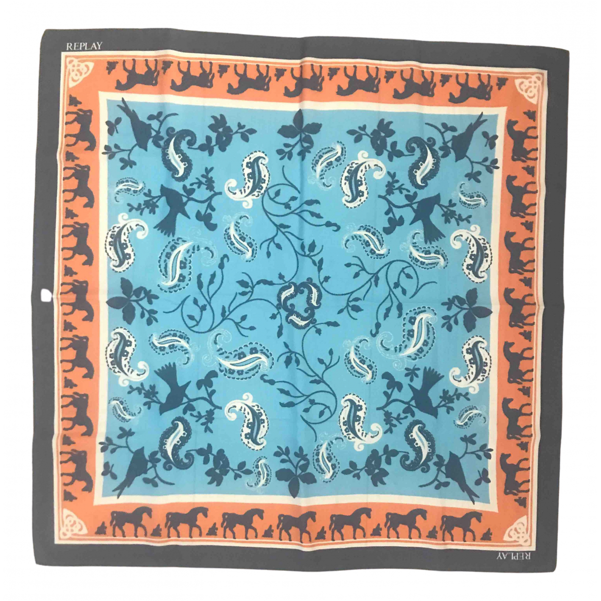 Replay \N Blue scarf for Women \N